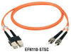 Premium Ceramic, Multimode, 62-5-Micron Fiber Optic Patch Cable, ST–ST, Simplex, Riser, 5-m (16.4-ft.) -- EFN110-005M-ST