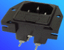 Power Inlet-Fuse Module IEC 320-C14 -- AEL-JR 101-2F-PC - Image