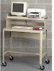 EDSAL Mobile Computer Workstation with Full Shelf -- 4788300 - Image