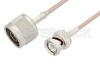 N Male to BNC Male Cable 48 Inch Length Using RG316 Coax -- PE3C3380-48 -Image