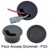 Floor Access Grommet -- DMC-FG3B Black DMC-FG3B Gray