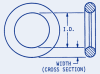ORings Buna-N 3/32 to 3/16 cross section #FAQ-D1-162 -- FAQ-D1-162 - Image