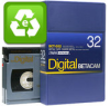Evaluated Digital Betacam 32 Minutes Small Cassette