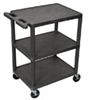Utility Cart, with Two Flat Shelves, Gray -- EW-47600-56