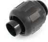 "Heyco 8404 Liquid Tight Fitting 3/4"" Thread Size, Straight Thru, Nylon, Black -- 27263 -- View Larger Image"