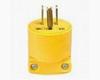 Straight Blade Plug Yellow 20A 125V 2P -- 03266433640-1 - Image
