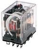 SZR-LY General Purpose Relay: Standard Relay; Plug-in/Solder Terminal; 4PDT; 24 Vdc -- SZR-LY4-1-DC24V