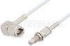 SMC Plug Right Angle to SMC Jack Bulkhead Cable 72 Inch Length Using RG196 Coax -- PE33692LF-72 -Image