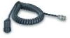 Polyurethane coiled cable, 6-ft, 2-socket MIL-type conn., right angle to BNC plug -- 050BQ006AC - Image