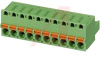 PCB Terminal Block, Spring Cage, Plug, 5.08mm pitch, 10 Positions -- 70055425
