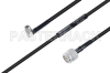MIL-DTL-17 SMA Male Right Angle to TNC Male Cable 60 Inch Length Using M17/28-RG58 Coax -- PE3M0123-60 -Image