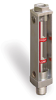 """Steel Liquid Level Gage with High/Low Level Markings and 1/8"""" Female NPT Cap, 2 3/8"""" Sight Opening, 1/4"""" Male NPT Mounting Thread -- YA1066-1"""