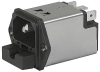 IEC Appliance Inlet C14 with Filter, Fuseholder 1- or 2-pole -- 5220 - Image