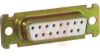 15 Pin D-Sub Receptacle, Stamped Contacts, Solder Cup Term, Tin/Zinc -- 70039599 - Image
