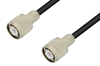 HN Male to HN Male Cable 48 Inch Length Using 75 Ohm RG59 Coax -- PE34436-48 -- View Larger Image