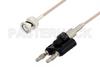 BNC Male to Banana Plug Cable 36 Inch Length Using RG174 Coax, LF Solder, RoHS -- PE3C3403LF-36 -Image