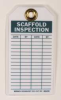 Scaffold Inspection Tag,Grn/Wht,Met,PK10 -- 8RJ77