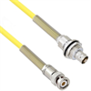 Halogen Free Cable Assembly TRB 3-Slot Plug to Insulated Bulk Head 3-Lug Cable Jack with Bend Reliefs .245