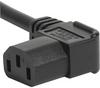 Cord Sets 10 A, Europlug, Black, 2.5 m, H05VV-F 3G1,0mm2, Connector IEC C13, 002500 mm, H05VV-F3G1.0, black -- 6004.0225 -Image