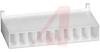 Connector; Nylon; Receptacle; 10; White; Crimp; 180 deg; 0.1 in.; UL 94V-0 -- 70083807