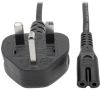 Standard U.K. Computer Power Cord, 2.5A (C7 to BS 1363 U.K. Plug), 6 ft. (1.8 m) -- P061-006
