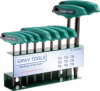 9 Pieces Torx® T-Handle S2 Hex Key Set -- SCD3009