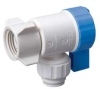 Angled Valve,PF,1/4 x 1/2 FIP,Poly,White -- 18F347 - Image
