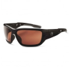 Ergodyne Skullerz BALDR-PZ Polarized Safety Glasses Copper Lens - Black Frame - Full Frame - 720476-57021 -- 720476-57021