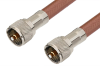 UHF Male to UHF Male Cable 72 Inch Length Using RG393 Coax, RoHS -- PE33267LF-72 -Image