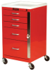 Mini-Line Five Drawer Emergency Cart Standard Package 3145B -- 3145B