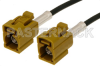 Curry FAKRA Jack to FAKRA Jack Cable 12 Inch Length Using RG174 Coax -- PE38750K-12 -Image