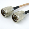 N Male (Plug) to N Male (Plug) Cable RG-142 Coax Up To 6 GHz, 1.35 VSWR in 24 Inch -- FMC0101142-24 -Image