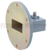 WR-137 to SMA Female Waveguide to Coax Adapter UG-441/U Round Cover with 5.85 GHz to 8.2 GHz C Band in Aluminum, Paint -- FMWCA1046 - Image