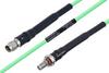 Temperature Conditioned SMA Male to SMA Female Bulkhead Low Loss Cable 24 Inch Length Using PE-P160LL Coax -- PE3M0181-24 -Image