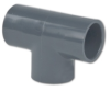 Schedule 80; Gray Tee PVC Socket 3/4