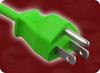 NEMA 5-15P GREEN to IEC-60320-C13 GREEN HOME • Power Cords • North American Power Cords • 3 Conductor Power Cords -- 2500.036GN
