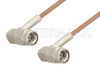 SSMA Male Right Angle to SSMA Male Right Angle Cable 24 Inch Length Using RG178 Coax, RoHS -- PE36572LF-24 -Image