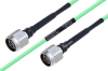Temperature Conditioned N Male to N Male Low Loss Cable 8 Inch Length Using PE-P160LL Coax -- PE3M0219-8 -- View Larger Image