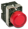 Indicating Light, 22mm metal, 24 VAC/DC LED, red -- GCX1231-24L