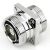 7/16 DIN Female (Jack) to 7/16 DIN Female (Jack) 4 Hole Flange Adapter, 1.15 VSWR -- SM3388 - Image