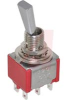 Switch, FLATTED Toggle, PANEL-MNTED, DPDT, ON-OFF-ON, 5A@120VAC OR 28VDC -- 70128532 - Image