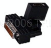 HDMI Male To DVI Female Swivel Adapter With Gold Contacts -- HDMIM-DVIF-GSA