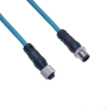 Ethernet, Cordset, 4 Pole, M12 D-Coded Male Straight / M12 D-Coded Female Straight, 10M, Teal, PUR -- MDE45P-4MFP-10M - Image