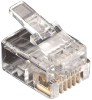 25-Pack RJ11 Unshielded Modular Plug 6-Wire -- FMTP611-25PAK -- View Larger Image