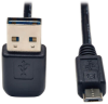 Universal Reversible USB 2.0 Cable (Up / Down Angle Reversible A to Micro-B M/M), 6-ft. -- UR050-006-UDA - Image