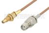 SMA Female to SSMC Jack Bulkhead Cable 72 Inch Length Using RG178 Coax -- PE3C4394-72 -Image