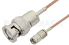 Reverse Polarity SMA Male to BNC Male Cable 72 Inch Length Using RG178 Coax, RoHS -- PE35213LF-72 -Image