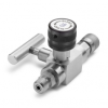 Block & bleed valve - male Quick-test inlet x male Quick-test outlet, S.S. -- QTHA-BLS0-HC