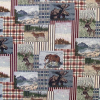 Animal Plaid Patch Tapestry Fabric -- RH-Deer Hunting - Image