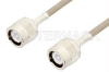 C Male to C Male Cable 24 Inch Length Using RG141 Coax -- PE34440-24 -- View Larger Image
